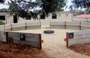 a 10 metre circle enclosure designed for quiet reflections